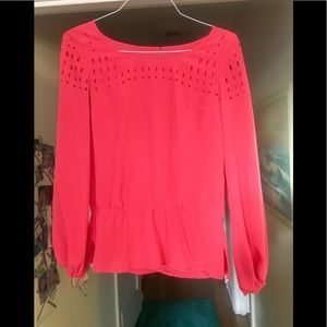 Red Hot Long Sleeve Blouse